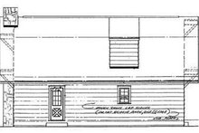 Country Exterior - Rear Elevation Plan #72-104