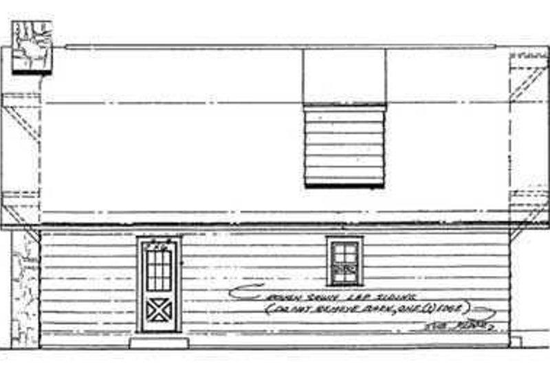 Country Exterior - Rear Elevation Plan #72-104 - Houseplans.com