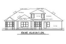 Architectural House Design - Mediterranean Exterior - Rear Elevation Plan #20-2443