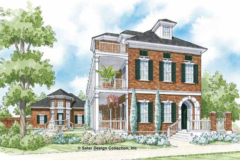 Traditional Exterior - Front Elevation Plan #930-359 - Houseplans.com