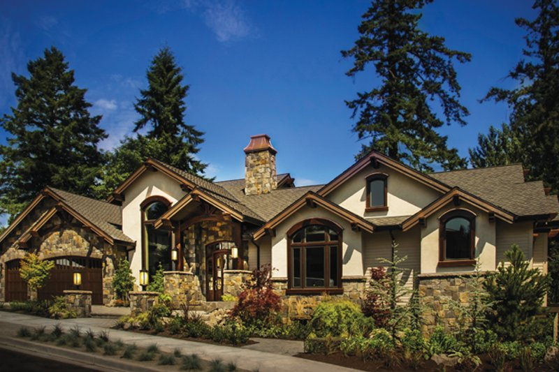 Craftsman Exterior - Front Elevation Plan #509-432 - Houseplans.com