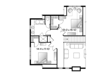 European Floor Plan - Upper Floor Plan Plan #23-2512