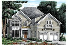 Architectural House Design - Colonial Exterior - Front Elevation Plan #927-891