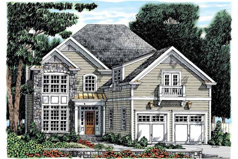 Colonial Exterior - Front Elevation Plan #927-891 - Houseplans.com