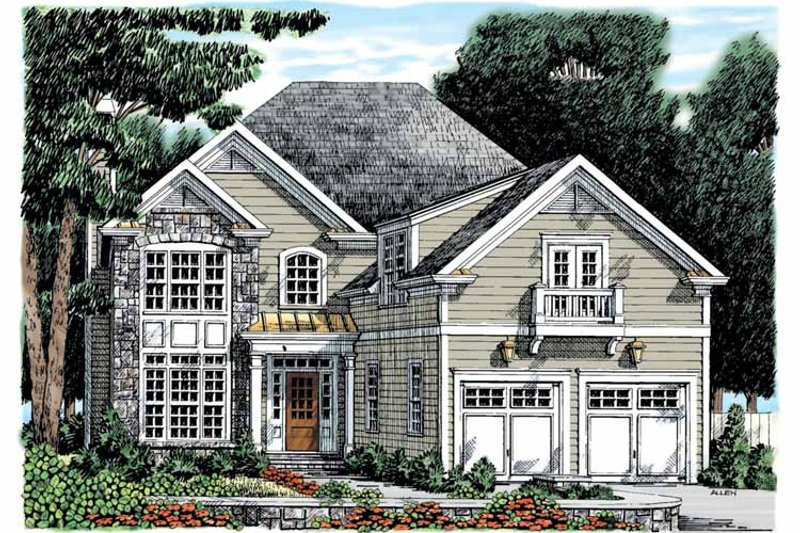 Colonial Exterior - Front Elevation Plan #927-891