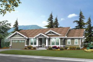 Architectural House Design - Craftsman Exterior - Front Elevation Plan #132-247