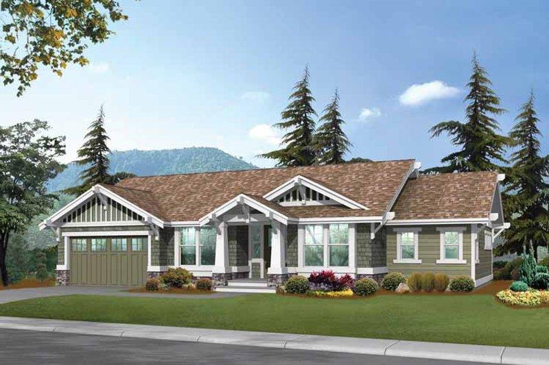 Dream House Plan - Craftsman Exterior - Front Elevation Plan #132-247