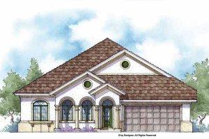 Architectural House Design - Mediterranean Exterior - Front Elevation Plan #938-21