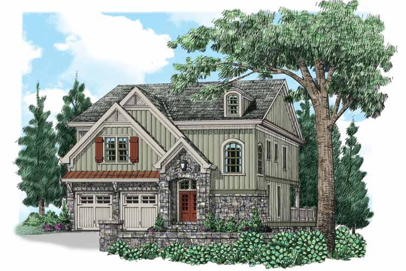Traditional Exterior - Front Elevation Plan #927-538