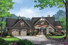 Craftsman Exterior - Front Elevation Plan #929-962