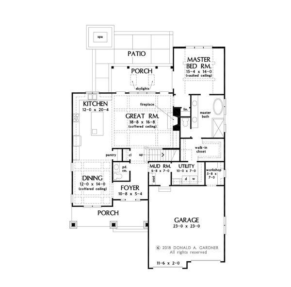 Architectural House Design - Farmhouse Floor Plan - Main Floor Plan #929-1122