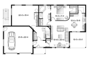 Contemporary Style House Plan - 3 Beds 2 Baths 2729 Sq/Ft Plan #23-2599 Floor Plan - Main Floor Plan