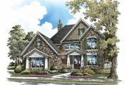 Craftsman Style House Plan - 5 Beds 4 Baths 3112 Sq/Ft Plan #929-839 Exterior - Front Elevation