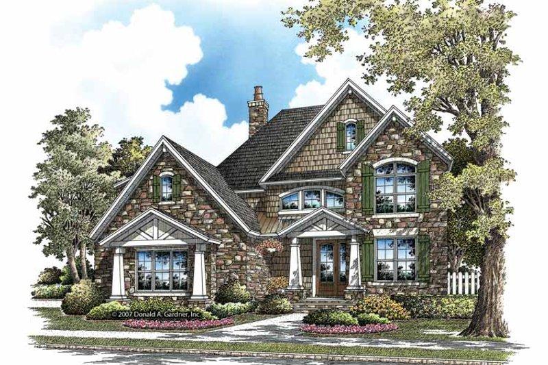 Craftsman Exterior - Front Elevation Plan #929-839 - Houseplans.com