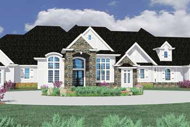 Country Exterior - Front Elevation Plan #509-396