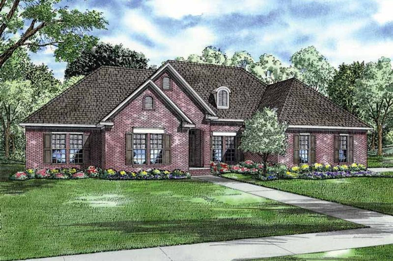 Country Exterior - Front Elevation Plan #17-2853 - Houseplans.com