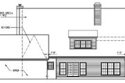 Country Style House Plan - 4 Beds 3 Baths 2756 Sq/Ft Plan #15-210 Exterior - Rear Elevation
