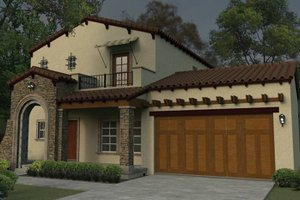 Dream House Plan - Mediterranean Exterior - Front Elevation Plan #1058-78