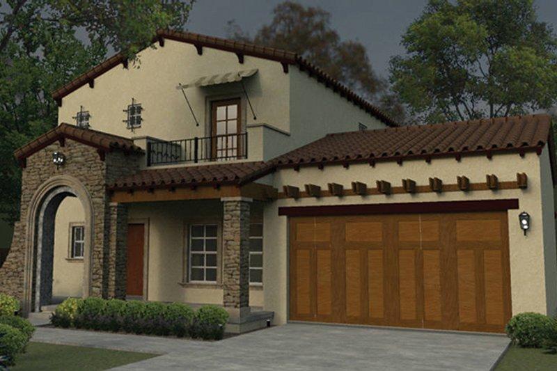 Dream House Plan - Mediterranean Exterior - Front Elevation Plan #1058-78