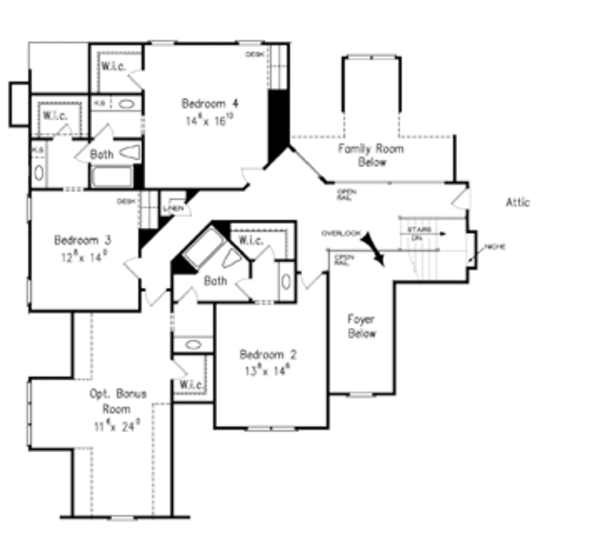 Dream House Plan - Country Floor Plan - Upper Floor Plan #927-366
