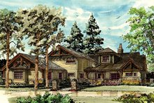 Craftsman Exterior - Front Elevation Plan #942-30