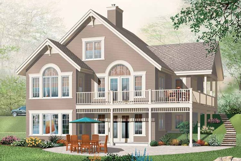 House Plan Design - European Exterior - Front Elevation Plan #23-2422