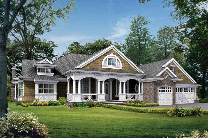 Dream House Plan - Craftsman Exterior - Front Elevation Plan #132-282