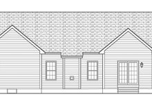 Architectural House Design - Ranch Exterior - Rear Elevation Plan #1010-138