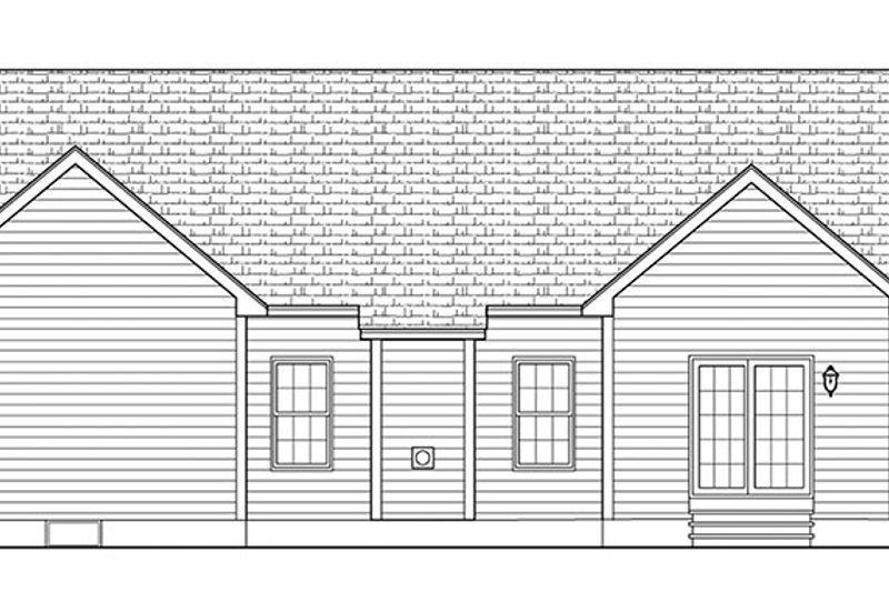 Ranch Exterior - Rear Elevation Plan #1010-138 - Houseplans.com