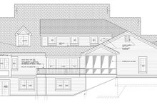 Colonial Exterior - Rear Elevation Plan #328-460