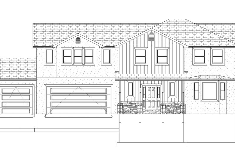 Traditional Exterior - Front Elevation Plan #1060-32 - Houseplans.com