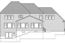 Home Plan - Colonial Exterior - Rear Elevation Plan #1010-177