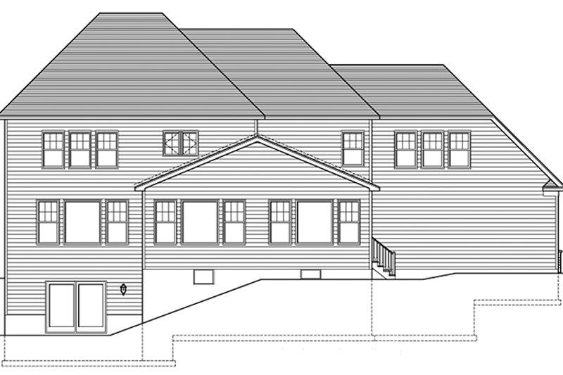 Colonial Exterior - Rear Elevation Plan #1010-177 - Houseplans.com