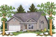 Home Plan - Bungalow Exterior - Front Elevation Plan #70-1367