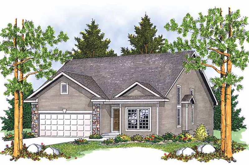 Bungalow Exterior - Front Elevation Plan #70-1367