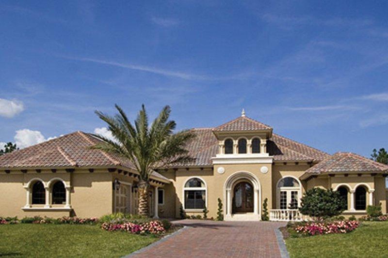 Architectural House Design - Mediterranean Exterior - Front Elevation Plan #417-815