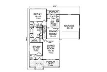 Traditional Floor Plan - Main Floor Plan Plan #513-2096