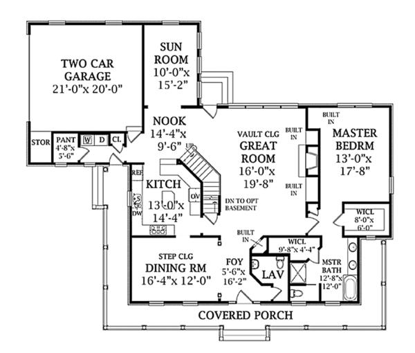 Country Floor Plan - Main Floor Plan Plan #314-281