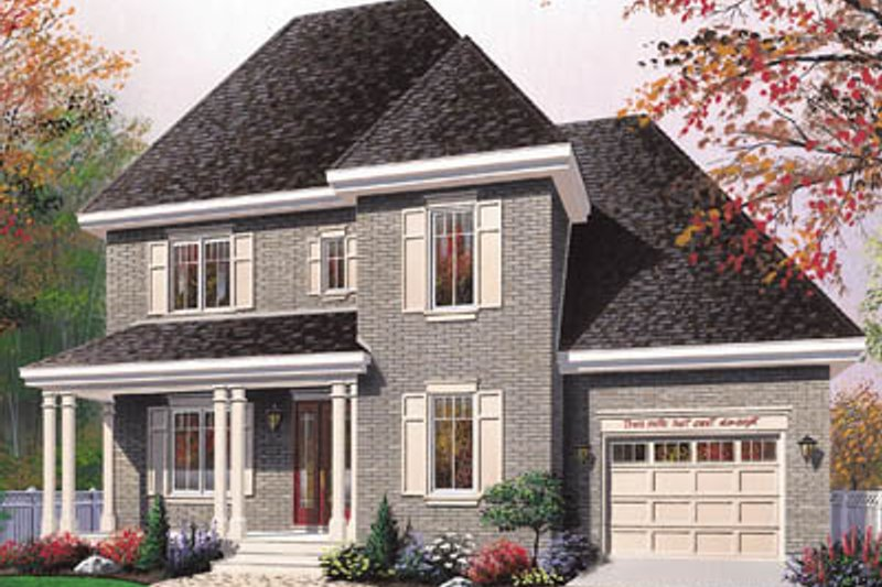 Traditional Exterior - Front Elevation Plan #23-2163 - Houseplans.com