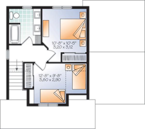 Craftsman Floor Plan - Upper Floor Plan Plan #23-2683