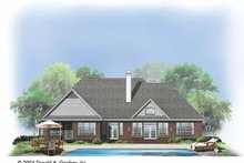 House Plan Design - Ranch Exterior - Rear Elevation Plan #929-733