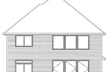 Traditional Exterior - Rear Elevation Plan #509-293