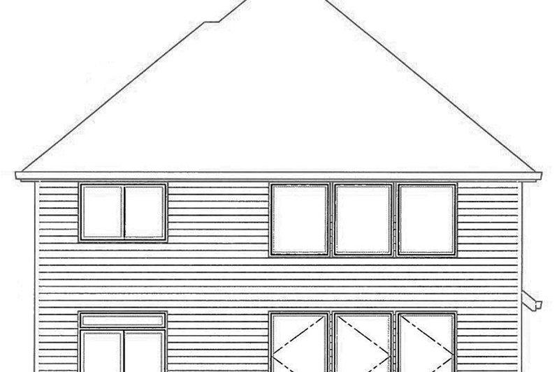 Traditional Exterior - Rear Elevation Plan #509-293 - Houseplans.com