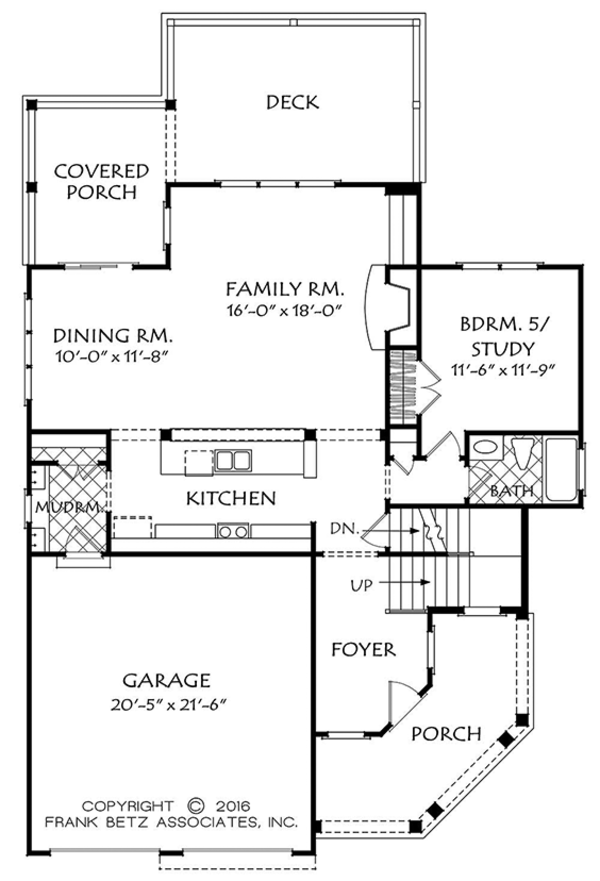 European Floor Plan - Main Floor Plan Plan #927-979