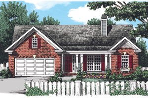 Dream House Plan - Country Exterior - Front Elevation Plan #927-330