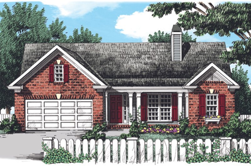 Country Exterior - Front Elevation Plan #927-330