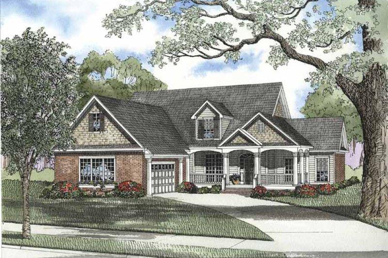Home Plan - Craftsman Exterior - Front Elevation Plan #17-2696