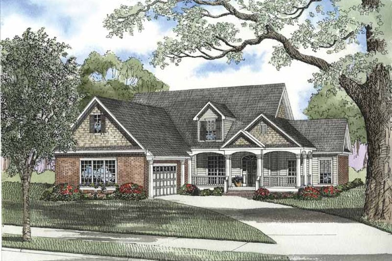 Architectural House Design - Craftsman Exterior - Front Elevation Plan #17-2696
