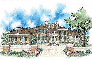 European Style House Plan - 4 Beds 3.5 Baths 4875 Sq/Ft Plan #930-348