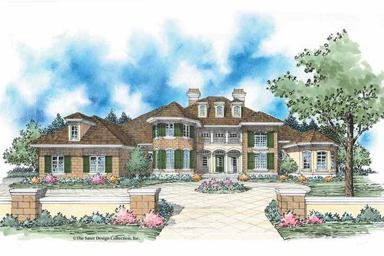 European Exterior - Front Elevation Plan #930-348